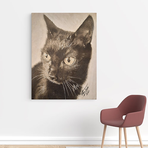 "Tablou Canvas ""Bimboo Cat"" 40x50cm"