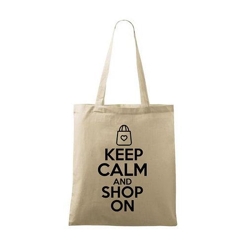 """Sacoșă personalizată """"Keep Calm and Shop On """""""