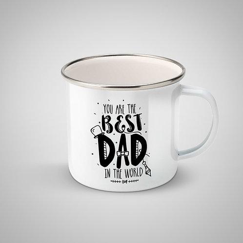 """Cană metalică emailată """"Best Dad"""""""
