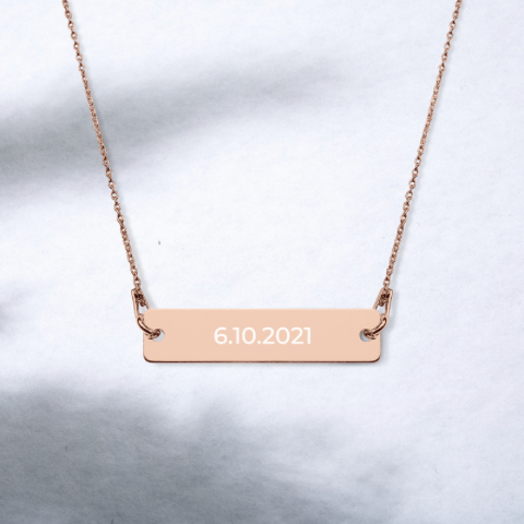 Almsey Personalized Bar Necklace
