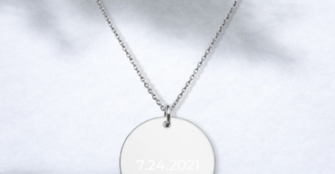 Almsey Personalized Disc Necklace