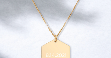 Almsey Personalized Hexagon Necklace