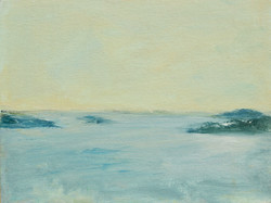 Morning Cove, Oil on canvas panel, 9%22