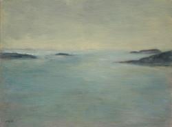 Cove Overcast, Oil on linen panel, 12%22