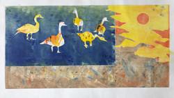Sunstruck Geese