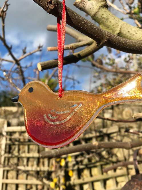 Gift Boxed Large Hanging Robin