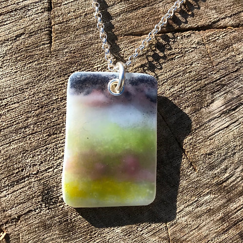 Dartmoor pendant on sterling silver chain.