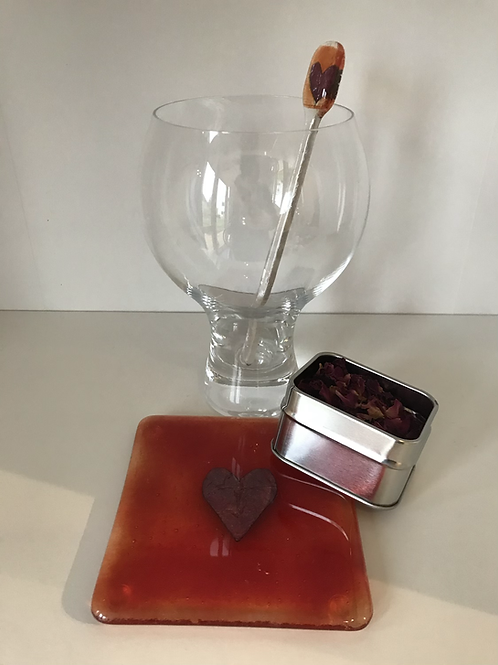 Gin Lovers Gift - Red Copper Heart