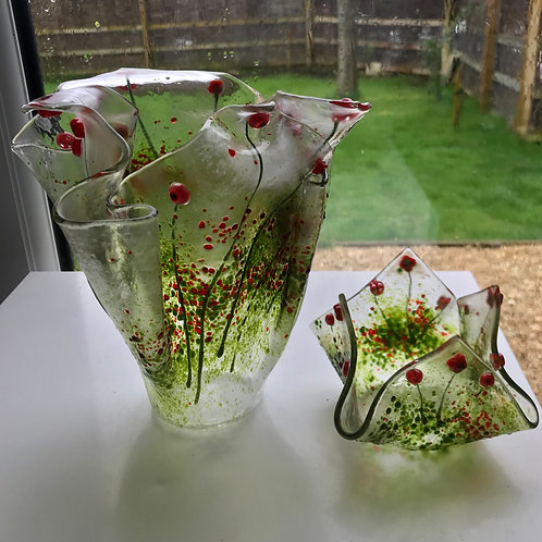 Large Folded Poppy Vase