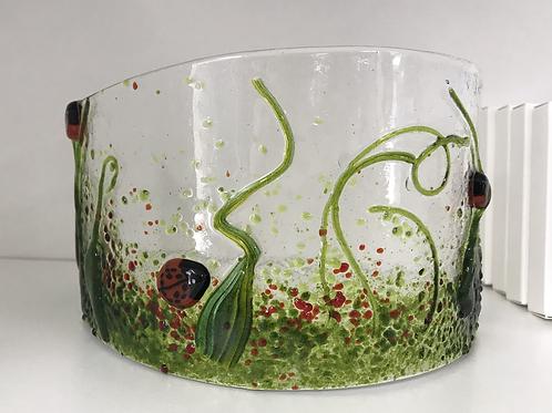 Ladybird Fused glass Arc