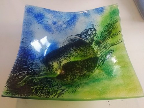 Large Square Mad March Hare Bowl