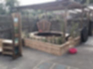 Early Years play space with glass sculpture made by the children