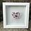 Thumbnail: Pink Flower Power Pebble Heart in 20cm x 20cm Frame