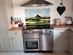 Glass cooker splashback