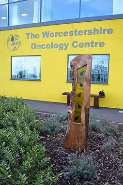 Sculptires at the new Worcestershire Oncology Centre