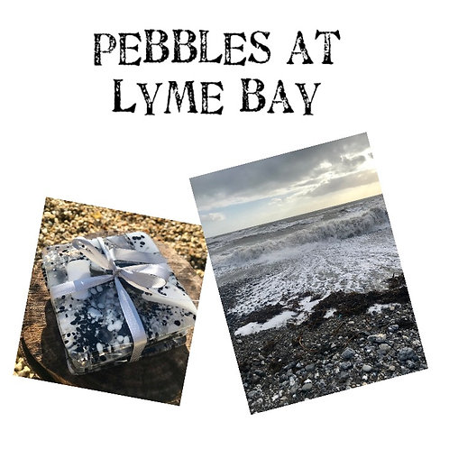 Pebbles at Lyme Set of 4 Coasters in a Gift Tin