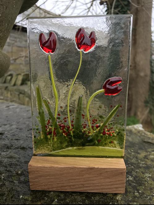 Tulip Woodblock Panel
