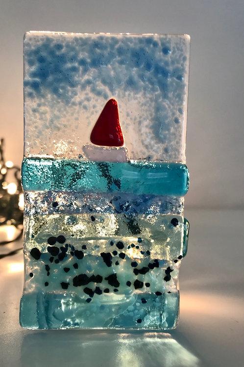 Turquoise Sea Tealight Panel