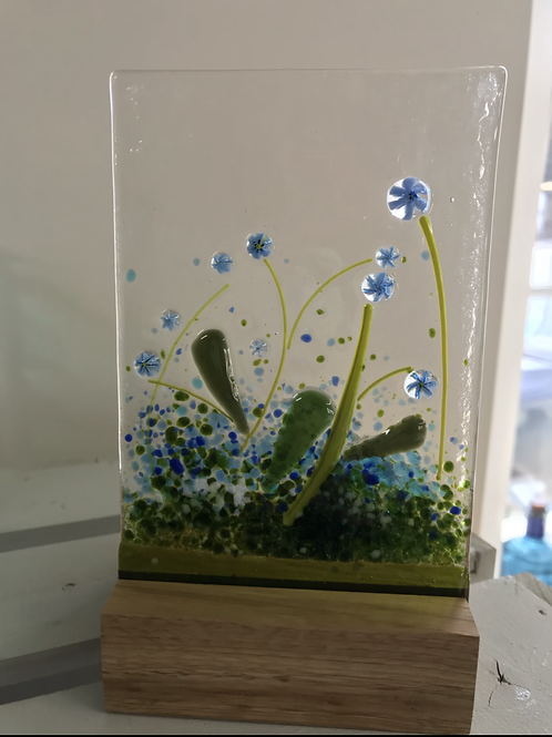 Forget-me-Not Panel in a Woodblock