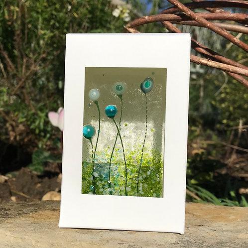 Blue Flower Tealight Panel
