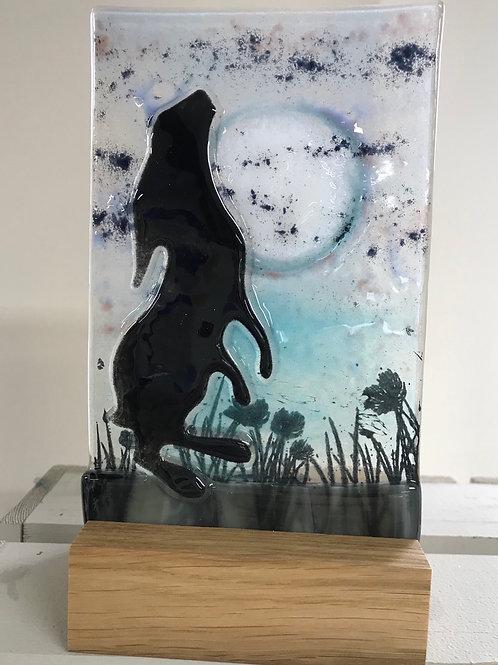 Moon Gazing Hare Tealight Stand