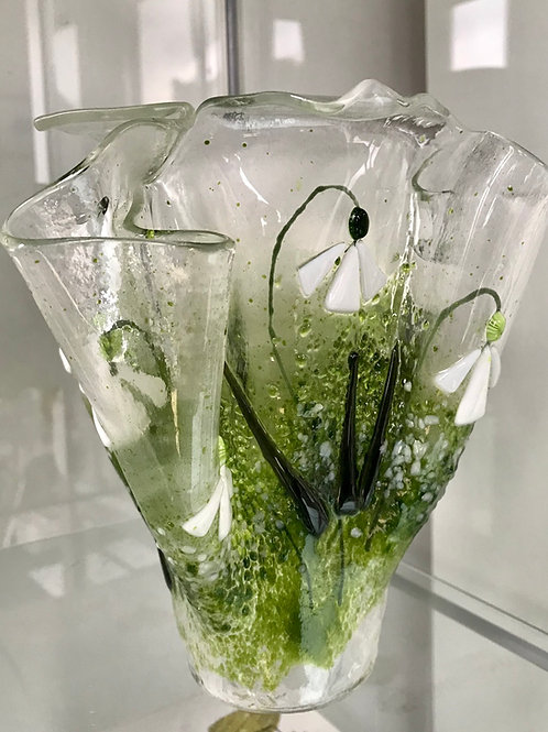 Large Folded Snowdrop Vase