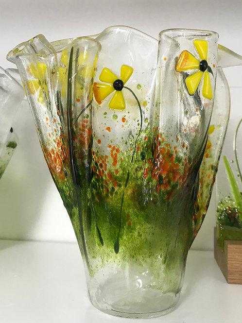 Large Folded Daffodil Vase