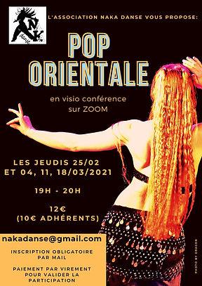 cours danse pop orientale sur zoom NaKa Danse