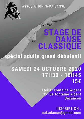 stage danse classique débutants