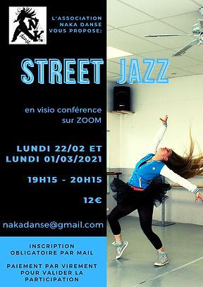 cours street jazz sur zoom NaKa Danse