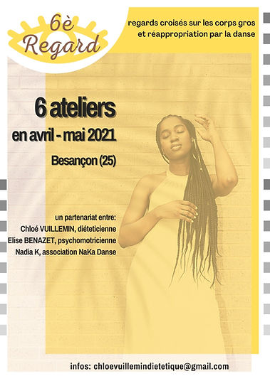 Affiche Ateliers avril mai 2021 à Besançon