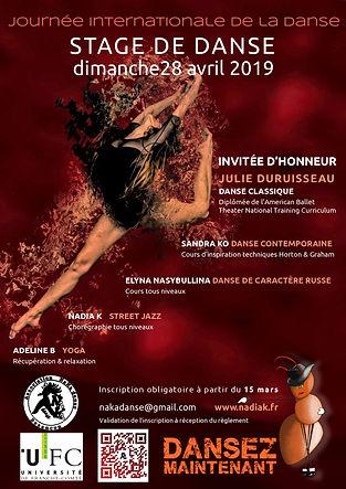 stage de danse besancon journee internatinale de la danse 2019 nadia k naka danse