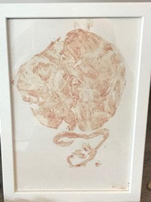 Framed Placenta Art
