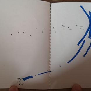 storyboard of a soundwalk. Sketchbook