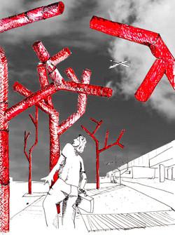 progetto per un'opera d'arte per l'aeroporto di Alghero