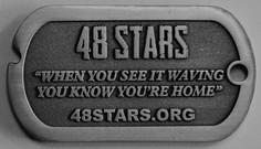 48 STARS Dog Tag Back