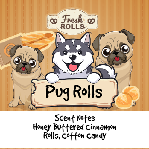 Pug Rolls - Honey Buttered Rolls + Whipped Cinnamon Sugar + Cotton Candy