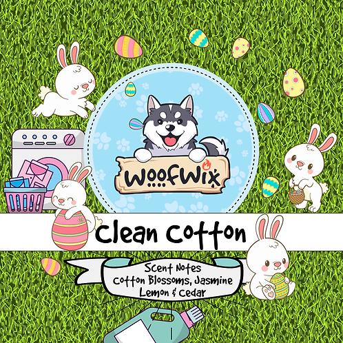 Clean Cotton - Cotton Blossoms + Jasmine + Lemon + Cedar + Ozone
