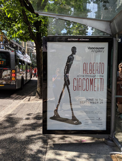 Giacometti Bus Shelter Poster
