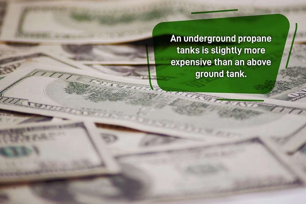cost of underground propane tank