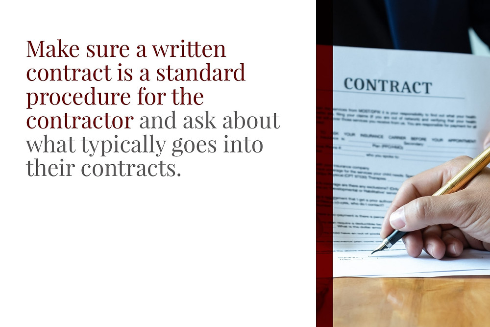 understand written concrete contracts