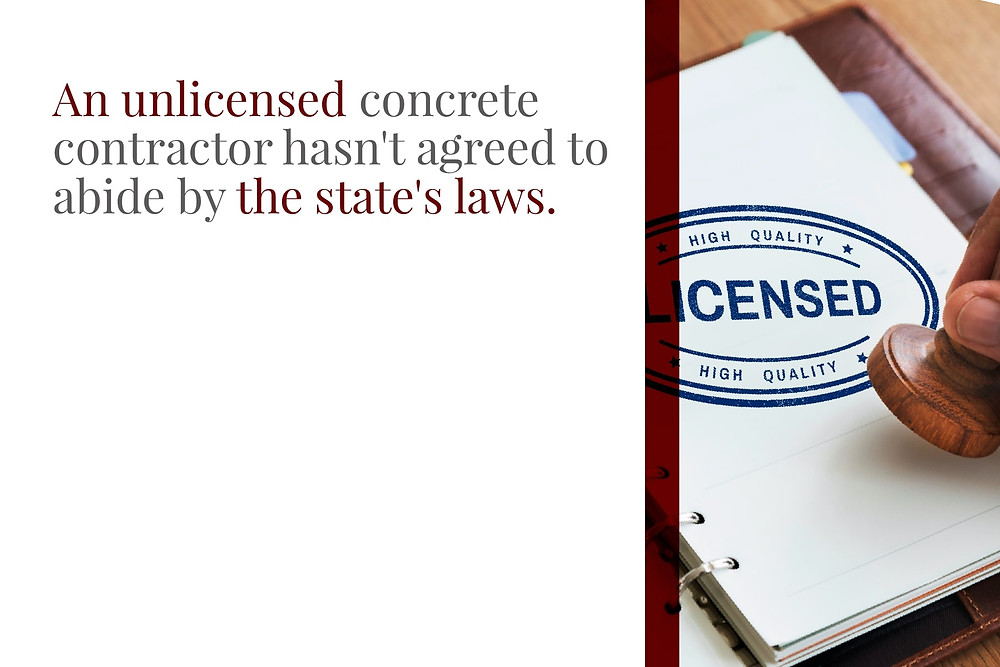 unlicensed concrete contractor