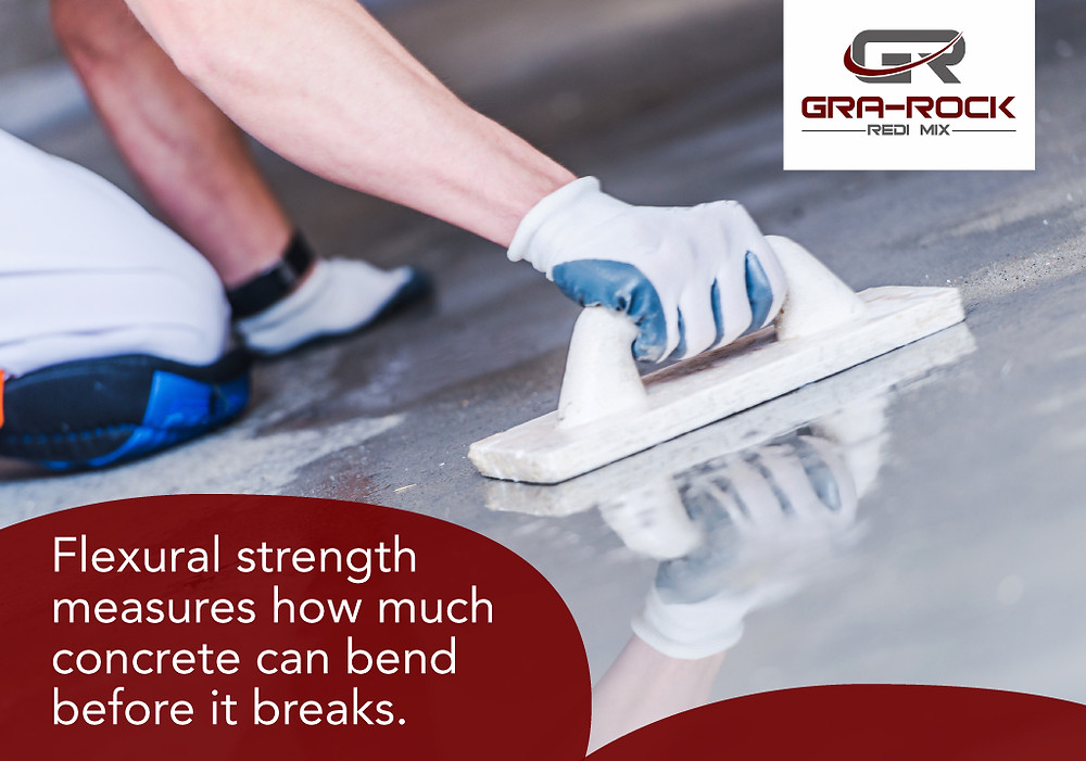 flexural strength measures how much concrete bends
