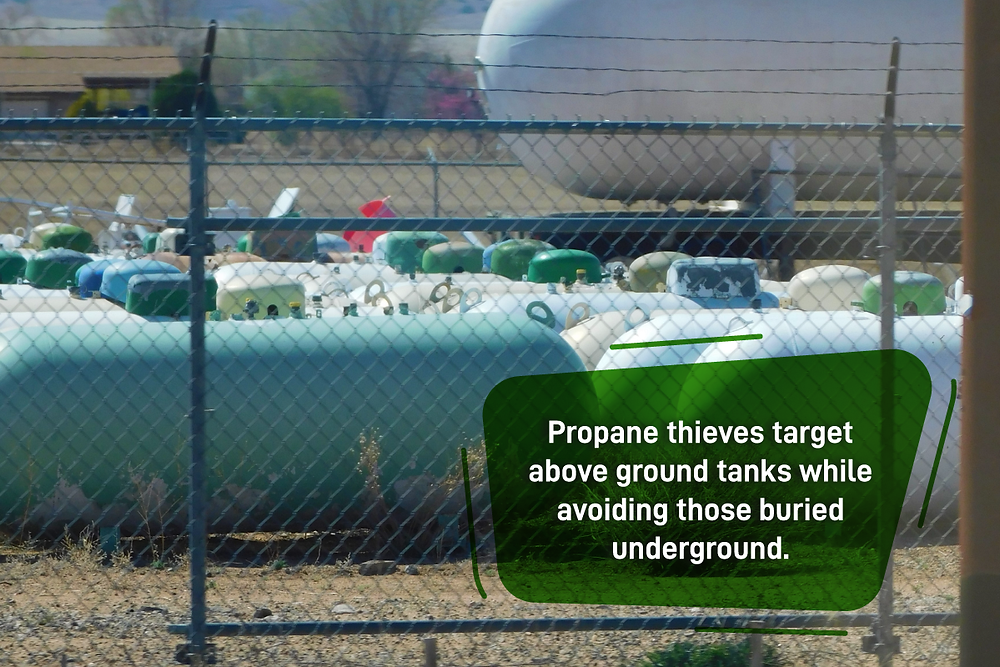 propane tank thieves can't steal underground propane tanks