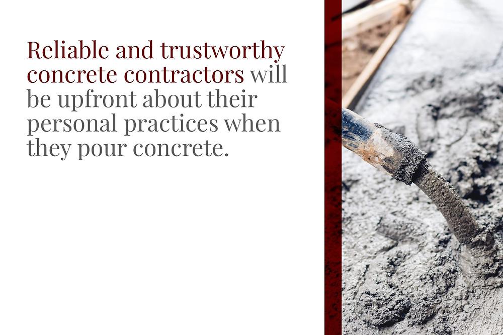 reliable contractors are transparent