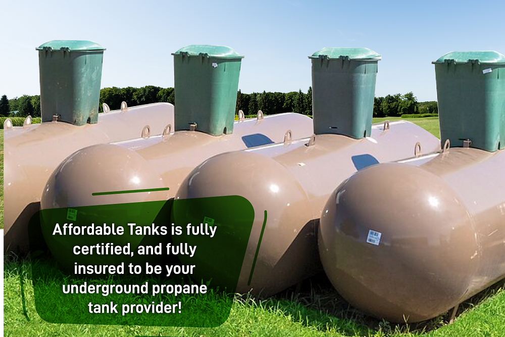 affordable tanks is a certified underground propane tank provider