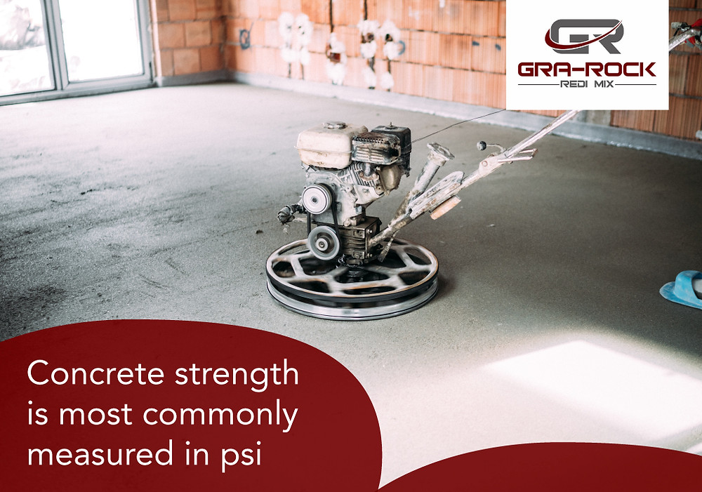 concrete strength is measured in psi