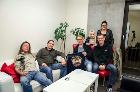 """Blind Man's Gun im Interview mit Moni Radio Discovery, Tide Hamburg Promo """"Beyond the Darkn"""
