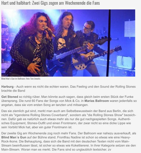 Harburg Aktuell erklärt Naddy zur Rock -Ikone!