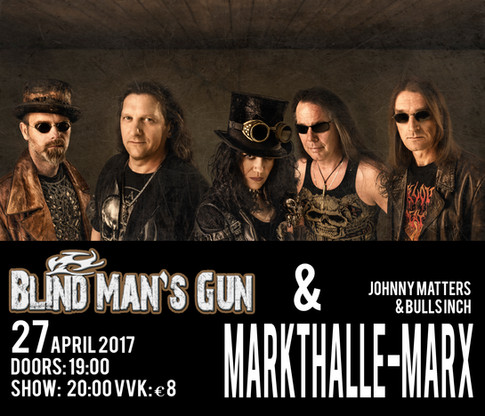 Blind Man's Gun rockt die Markthalle 27.04.2017 in Hamburg